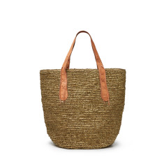 Metallic Gold Basket Bag