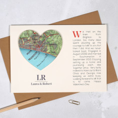 Where We Met Personalised Heart Card