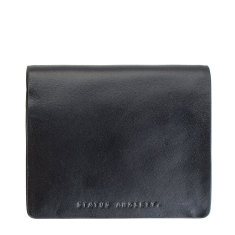 Nathaniel leather wallet in black