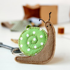 Make Your Own Snail Key Ring Craft Kit