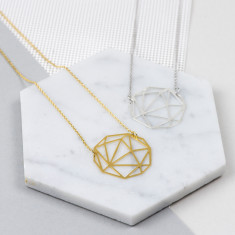 Round Geometric Necklace