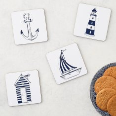 Nautical Beachscape Set of 4 Coasters