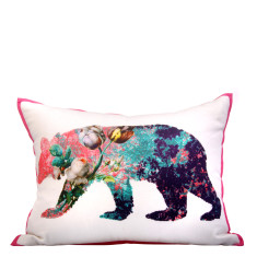 Bear floral cushion