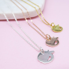 Apple pendant necklace (Various Colours)