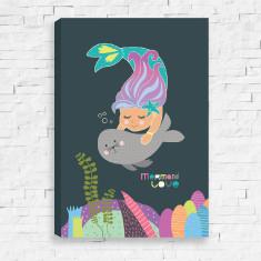 Mermaid Love Canvas
