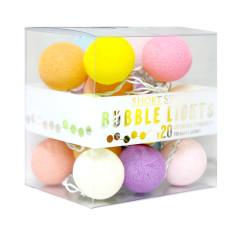 Multi colour cotton ball stringlights