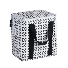 Insulated picnic bag in Bricks print