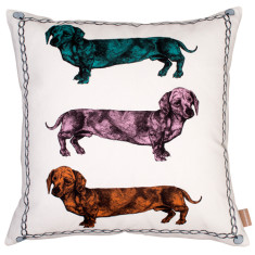 Dachshund triptych cushion