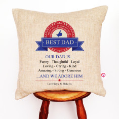 Dad is personalised cushion cover