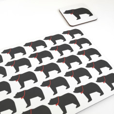 Mummy, daddy & baby bear placemats