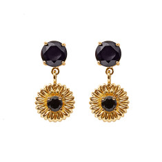 Daisy drop earrings (Various Colours)