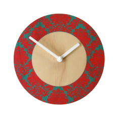 Objectify damask ring wall clock