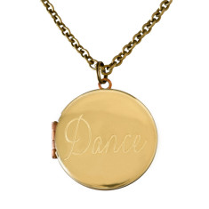 Dance... engraved vintage locket