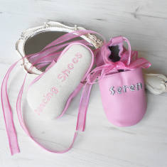 Personalised baby's first dance shoes
