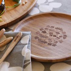Bamboo side plate in fern