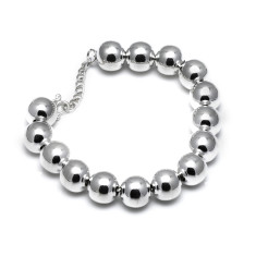 Sterling silver 12mm ball bracelet