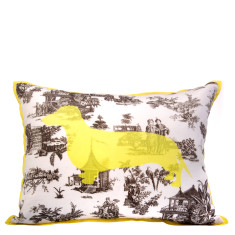 Dachshund toile cushion