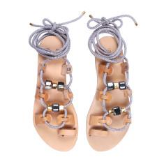 St. Tropez Gladiator rope sandals