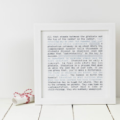 Personalised graduation print