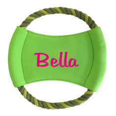 Personalised round rope frisbee