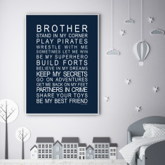 Brothers print (various colours)