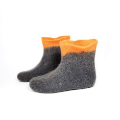 Women's Ankle Wool Boots In Orange Peak