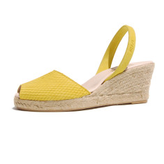 Teresa suede leather sandals in yellow