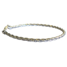 Three strand sterling silver omega bracelet in silver