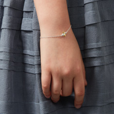Gold Vermeil & Sterling Silver Honey Bee Bracelet