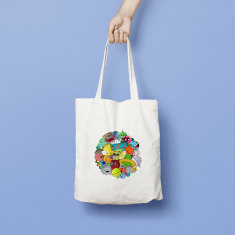 Space Moon Tote Bag
