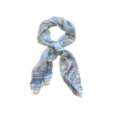 Dream soft blue/grey cotton scarf