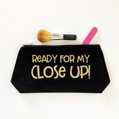 Ready for my close up make up bag