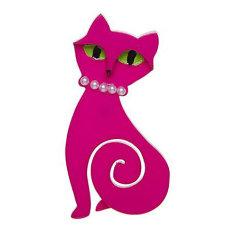 Erstwilder meow at midnight brooch