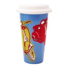 Scooter double walled eco porcelain cup