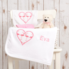 Flamingo Personalised Baby Gift Set