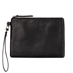 Fixation leather wallet in black
