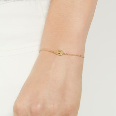 Anchor bracelet 18k rose gold vermeil