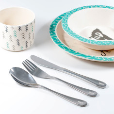 Engraved stainless steel child's cutlery set (1 piece)