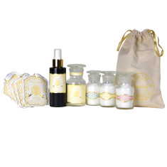 Candle, Parfum, Epsom Salts & Fragranced Card Gift Set