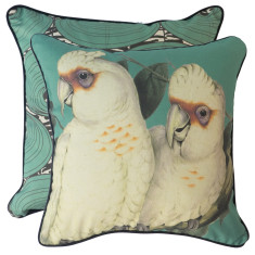 Teal Green Corella cushion cover