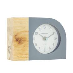 London Clock Company Tide Natural Wood & Dipped Grey Silent Mantle Clock