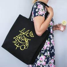Personalised Life Be Gins At… Shopping Bag