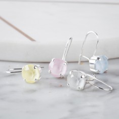 Small Drop Earrings Made With Swarovski Crystals (various colours)