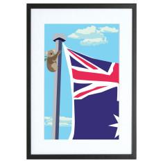 Koala on Parliament House Canberra print