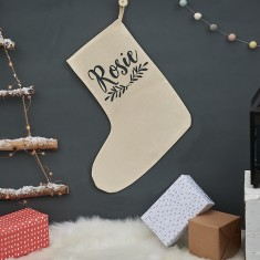 Personalised Christmas Laurel Stocking