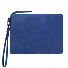 Fixation leather wallet in blue