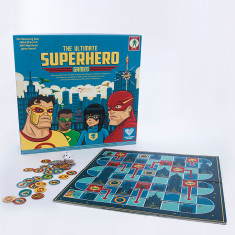 The Ultimate Superhero Games 4 in 1 Game board