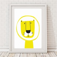 Mustard Yellow Lion Print - Max