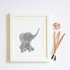 Baby Elephant giclée print