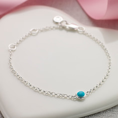 December birthstone bracelet in turquoise